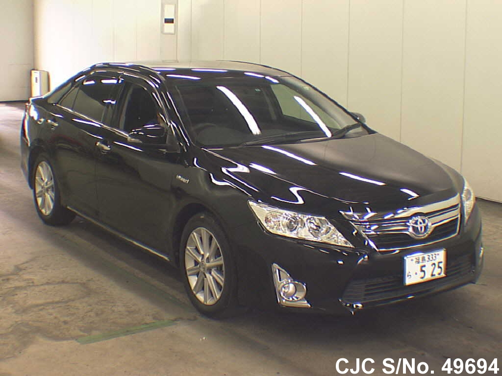 2012 toyota camry black for sale stock no 49694 japanese used cars exporter. Black Bedroom Furniture Sets. Home Design Ideas
