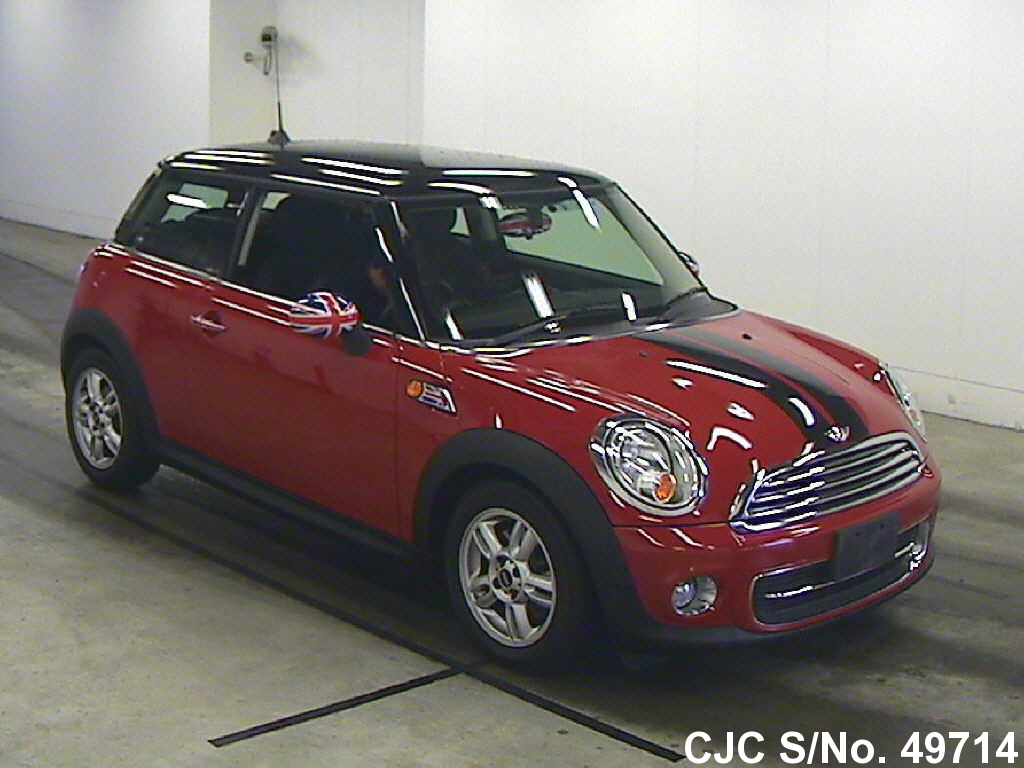 2011 mini cooper red 2 tone for sale stock no 49714 japanese used cars exporter. Black Bedroom Furniture Sets. Home Design Ideas