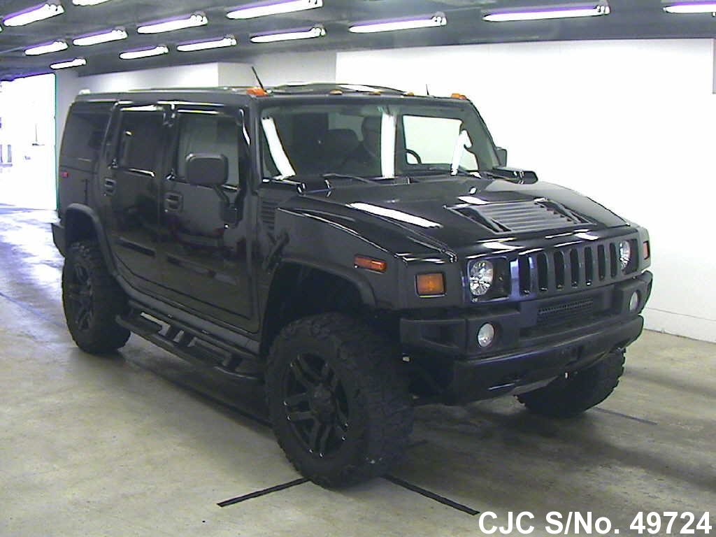 2006 hummer h2 black for sale stock no 49724 japanese used cars exporter. Black Bedroom Furniture Sets. Home Design Ideas
