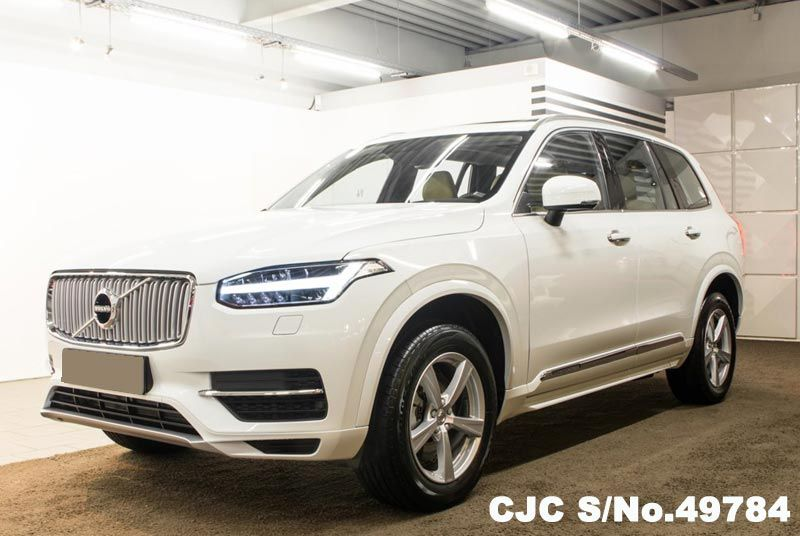 2015 left hand volvo xc90 white for sale stock no 49784 left hand used cars exporter. Black Bedroom Furniture Sets. Home Design Ideas