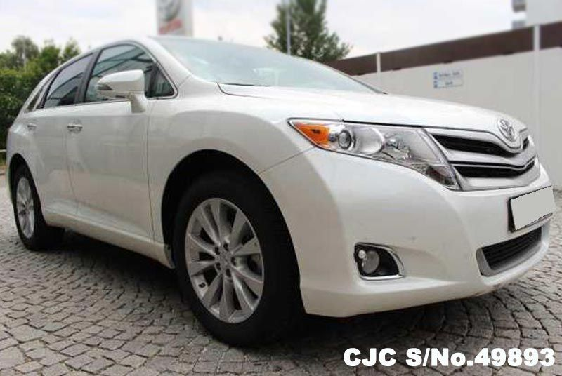 2016 left hand toyota venza white for sale stock no 49893 left hand used cars exporter. Black Bedroom Furniture Sets. Home Design Ideas