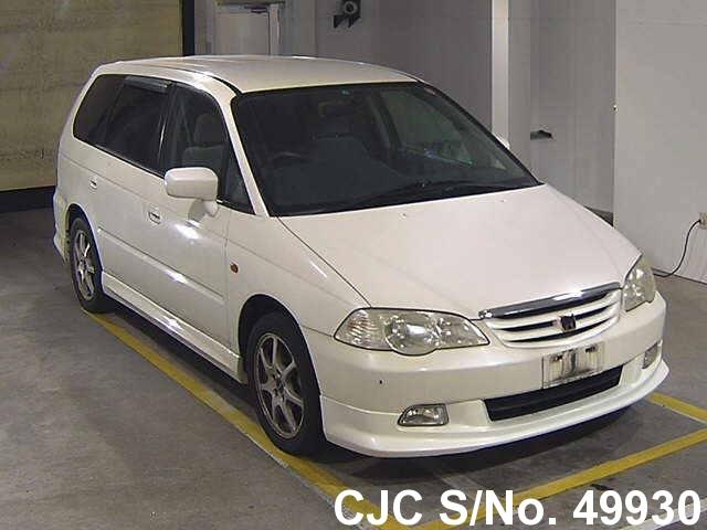2001 honda odyssey shuttle white for sale stock no 49930 japanese used cars exporter. Black Bedroom Furniture Sets. Home Design Ideas