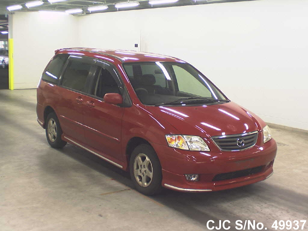 2001 mazda mpv red for sale stock no 49937 japanese used cars exporter. Black Bedroom Furniture Sets. Home Design Ideas