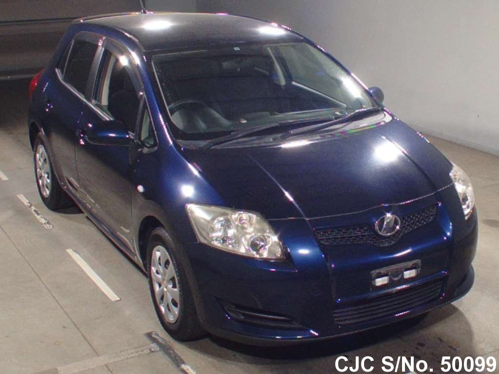 2007 toyota auris dark blue for sale stock no 50099 japanese used cars exporter. Black Bedroom Furniture Sets. Home Design Ideas