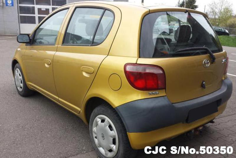 2000 left hand toyota vitz yaris yellow for sale stock no 50350 left hand used cars exporter. Black Bedroom Furniture Sets. Home Design Ideas