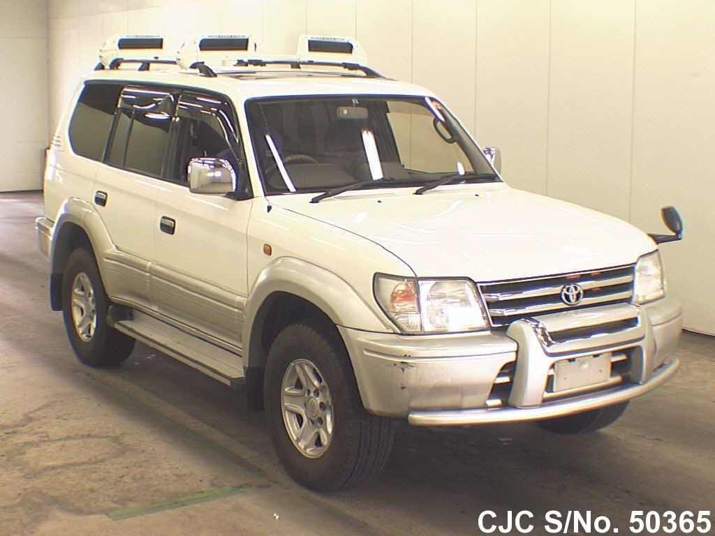 1998 toyota land cruiser prado white for sale stock no 50365 japanese used cars exporter. Black Bedroom Furniture Sets. Home Design Ideas