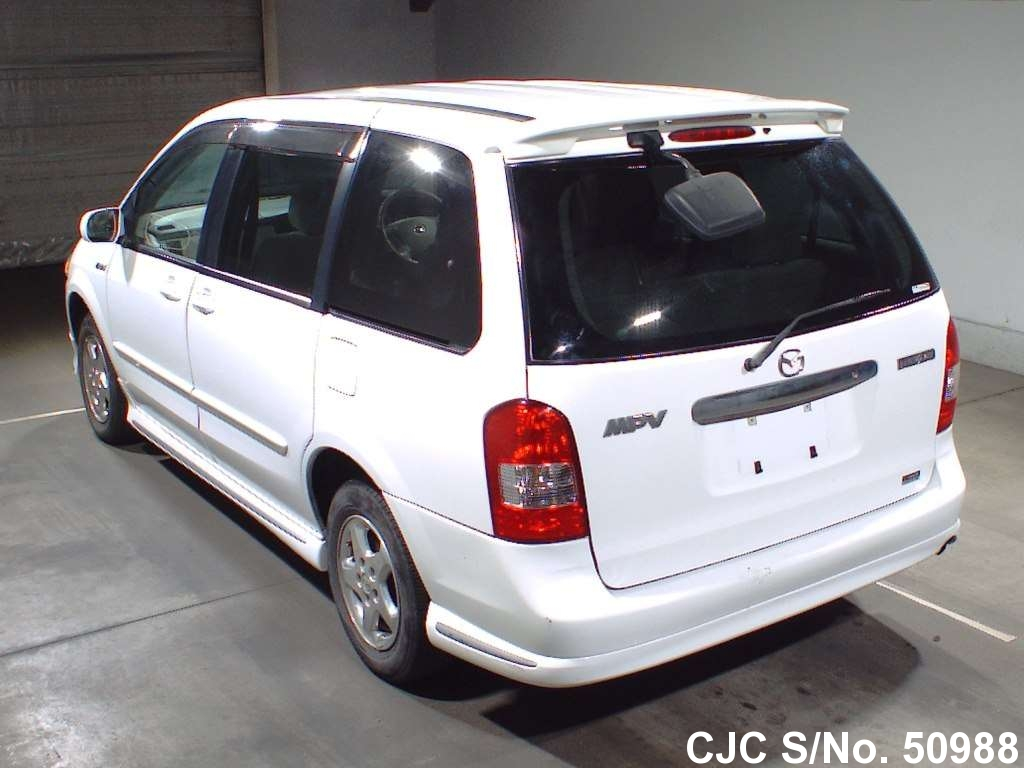 2001 mazda mpv white for sale stock no 50988 japanese for 2001 mazda mpv window motor