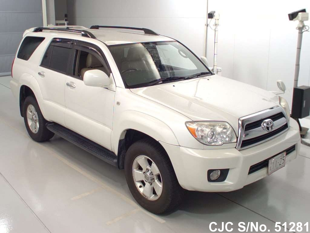 2005 Toyota Hilux Surf 4runner Pearl White For Sale Stock No 51281 Japanese Used Cars Exporter