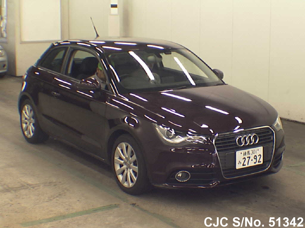 2012 audi a1 wine for sale stock no 51342 japanese used cars exporter. Black Bedroom Furniture Sets. Home Design Ideas