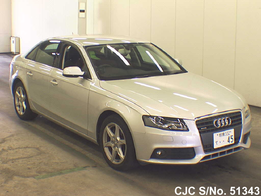 2009 audi a4 silver for sale stock no 51343 japanese used cars exporter. Black Bedroom Furniture Sets. Home Design Ideas