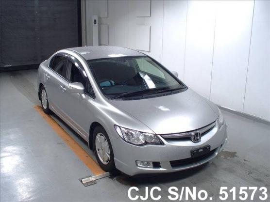 2007 honda civic hybrid silver for sale stock no 51573 japanese used cars exporter. Black Bedroom Furniture Sets. Home Design Ideas