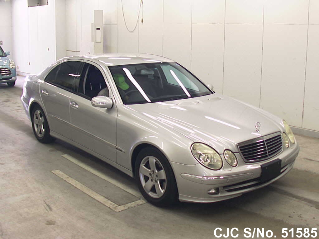 2005 mercedes benz e class silver for sale stock no 51585 japanese used cars exporter. Black Bedroom Furniture Sets. Home Design Ideas