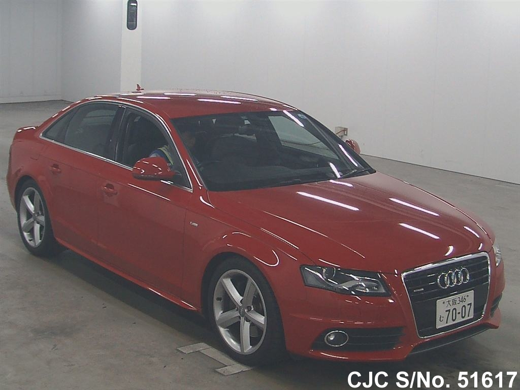 2009 audi a4 red for sale stock no 51617 japanese used cars exporter. Black Bedroom Furniture Sets. Home Design Ideas