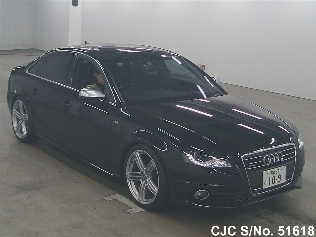 2009 audi a4 black for sale stock no 51618 japanese used cars exporter. Black Bedroom Furniture Sets. Home Design Ideas