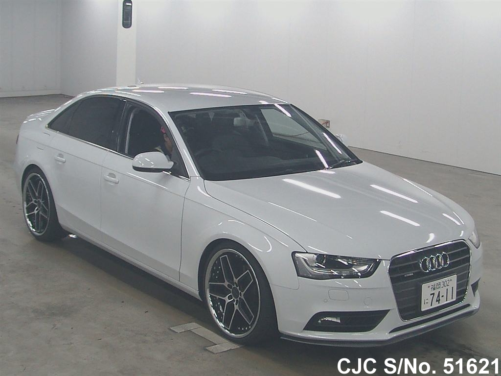 2014 audi a4 white for sale stock no 51621 japanese used cars exporter. Black Bedroom Furniture Sets. Home Design Ideas