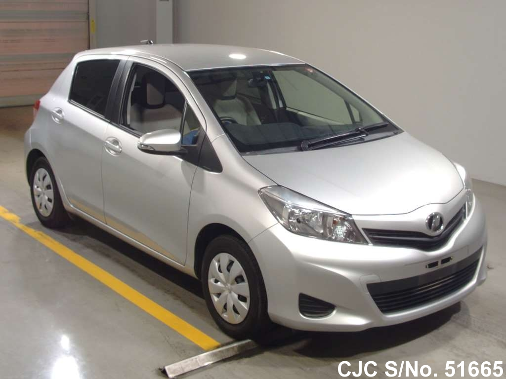 2013 toyota vitz yaris silver for sale stock no 51665 japanese used cars exporter. Black Bedroom Furniture Sets. Home Design Ideas