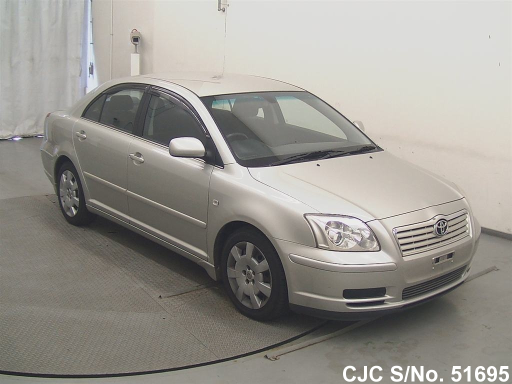 2004 toyota avensis silver for sale stock no 51695 japanese used cars exporter. Black Bedroom Furniture Sets. Home Design Ideas