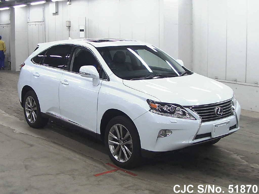 2012 lexus rx 450h pearl for sale stock no 51870 japanese used cars exporter. Black Bedroom Furniture Sets. Home Design Ideas