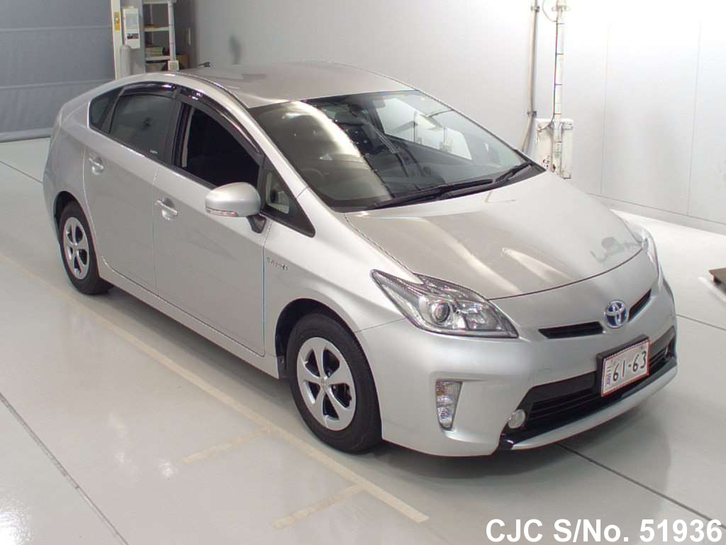 2013 toyota prius hybrid silver for sale stock no 51936 japanese used cars exporter. Black Bedroom Furniture Sets. Home Design Ideas