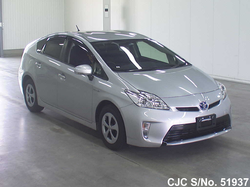 2013 toyota prius hybrid silver for sale stock no 51937 japanese used cars exporter. Black Bedroom Furniture Sets. Home Design Ideas