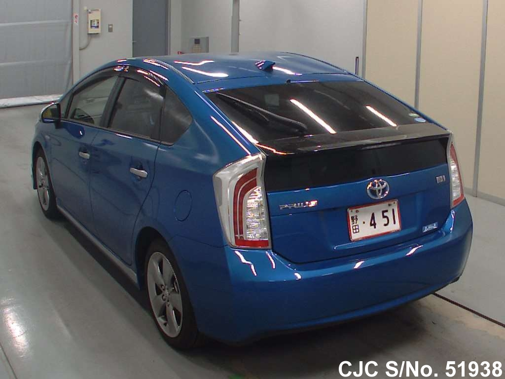 2013 toyota prius hybrid blue for sale stock no 51938 japanese used cars exporter. Black Bedroom Furniture Sets. Home Design Ideas