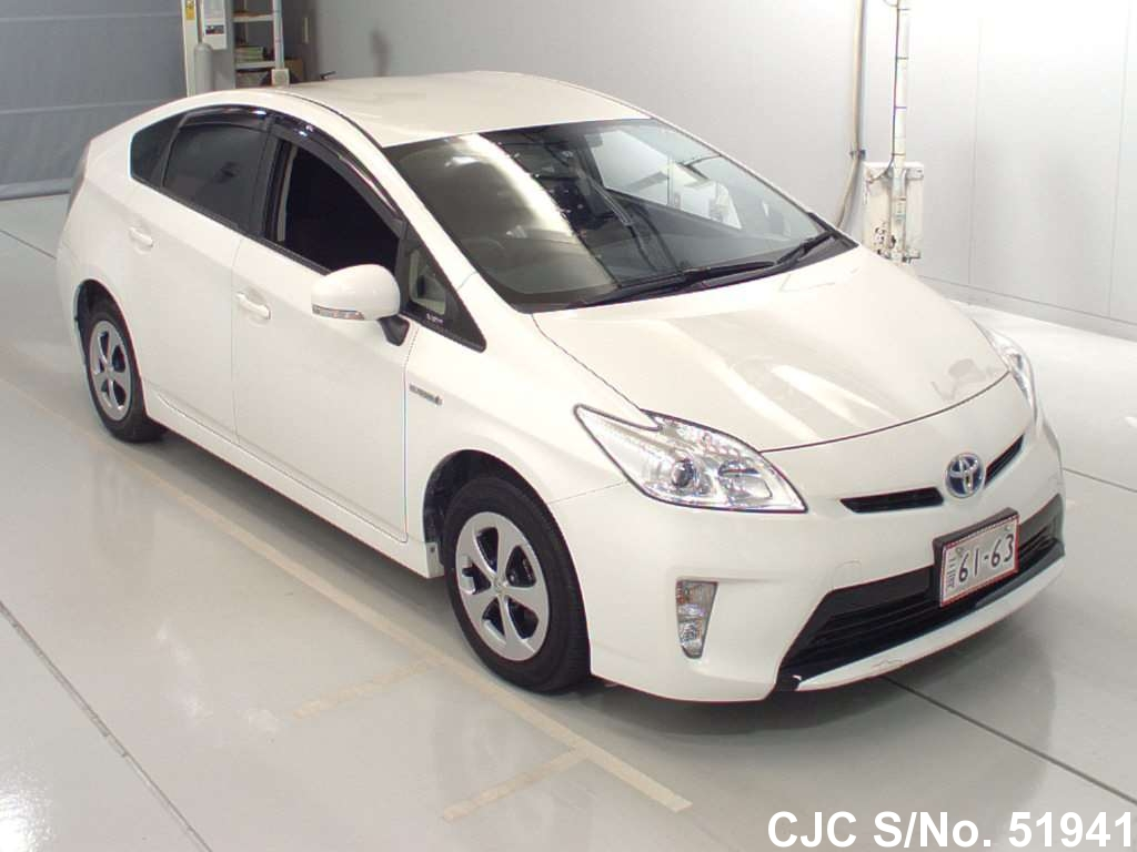 2014 toyota prius hybrid white for sale stock no 51941 japanese used cars exporter. Black Bedroom Furniture Sets. Home Design Ideas