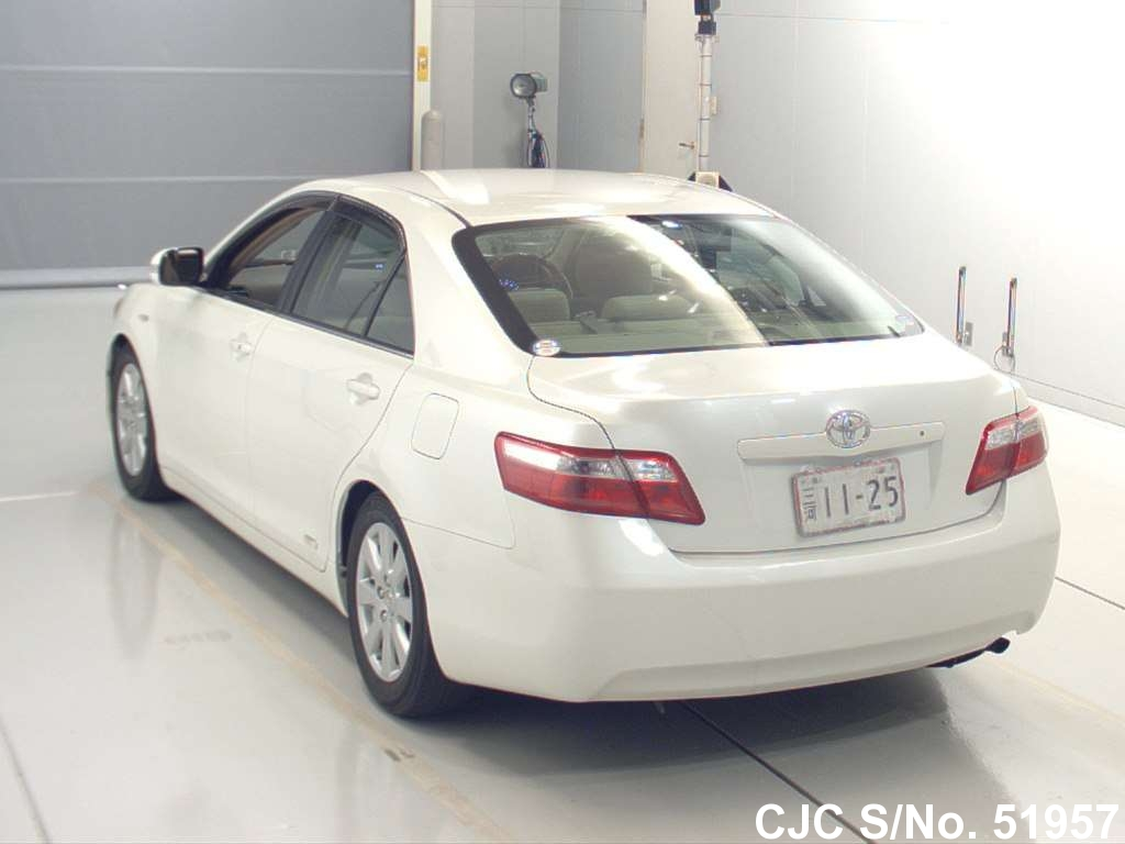 2008 toyota camry white for sale stock no 51957 japanese used cars exporter. Black Bedroom Furniture Sets. Home Design Ideas
