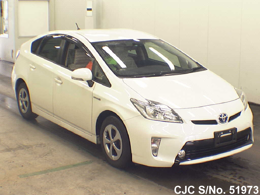 2013 toyota prius hybrid pearl for sale stock no 51973 japanese used cars exporter. Black Bedroom Furniture Sets. Home Design Ideas