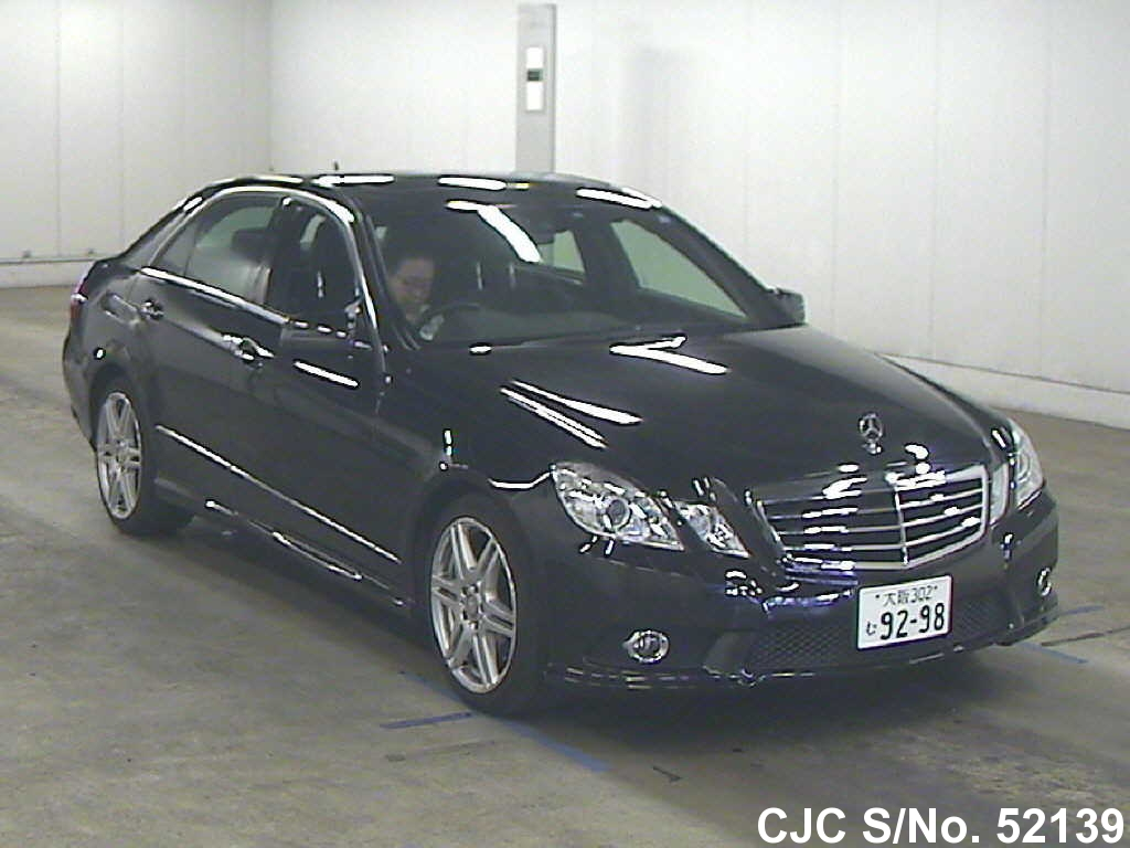 2009 mercedes benz e class black for sale stock no 52139 japanese used cars exporter. Black Bedroom Furniture Sets. Home Design Ideas