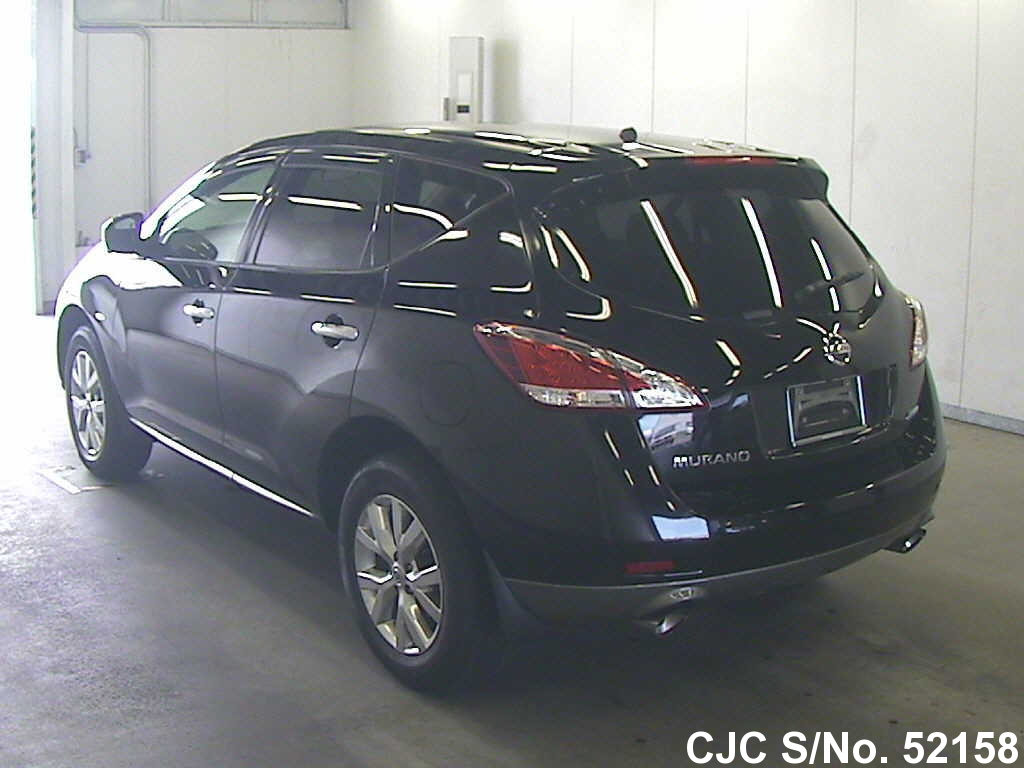 2011 nissan murano black for sale stock no 52158 japanese used cars exporter. Black Bedroom Furniture Sets. Home Design Ideas