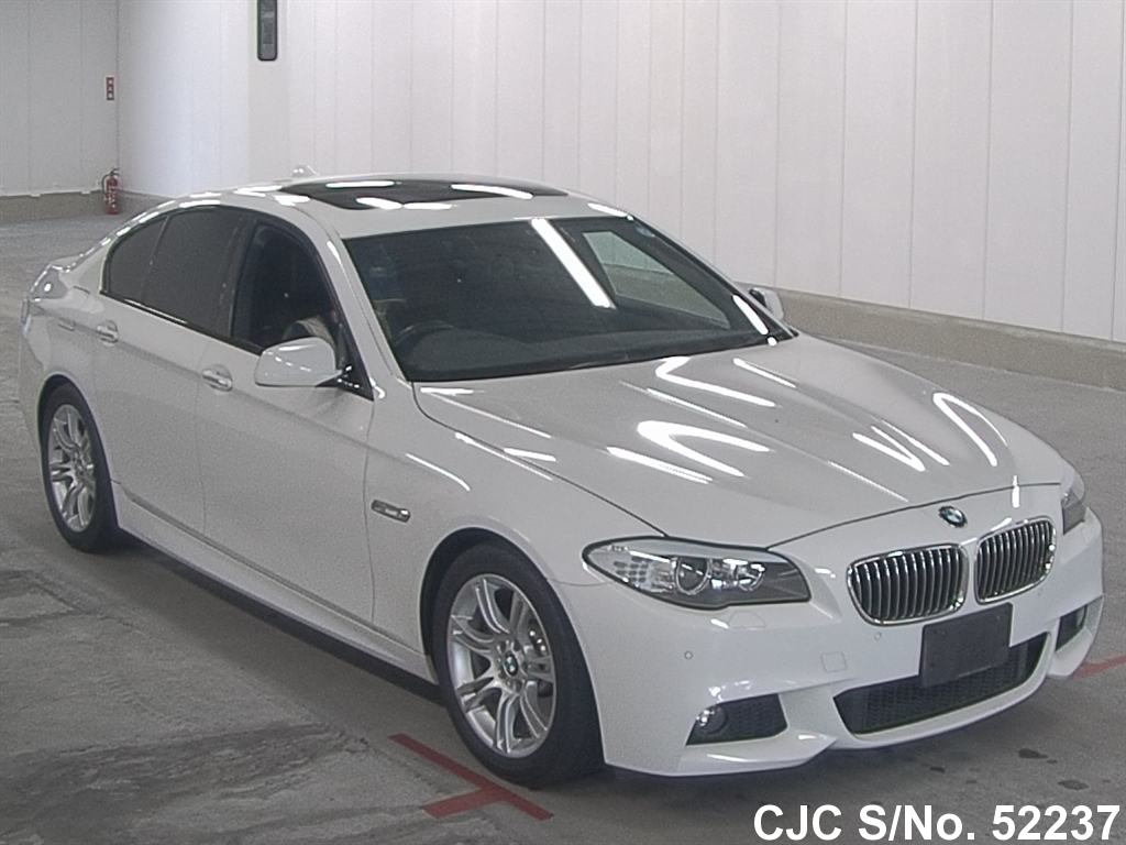 2011 bmw 5 series white for sale stock no 52237 japanese used cars exporter. Black Bedroom Furniture Sets. Home Design Ideas