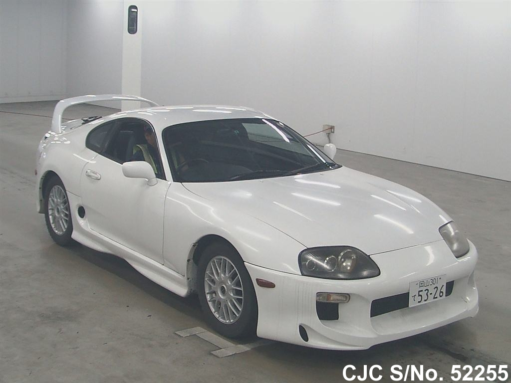 1996 toyota supra white for sale stock no 52255 japanese used cars exporter. Black Bedroom Furniture Sets. Home Design Ideas