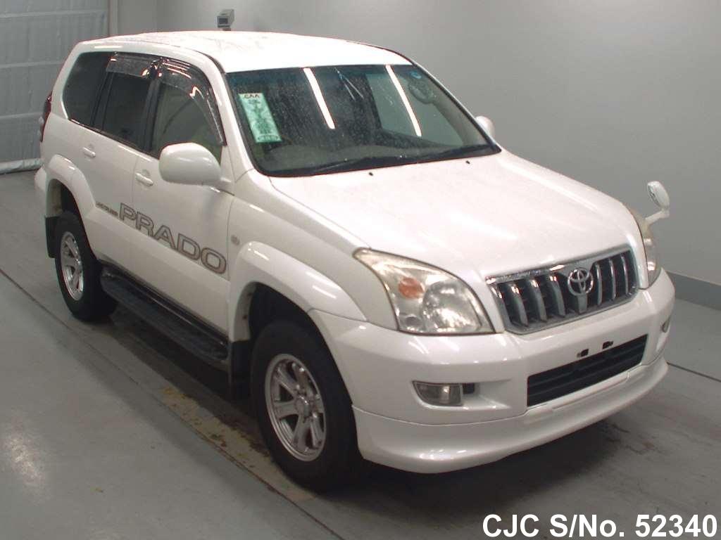 2002 Toyota Land Cruiser Prado White For Sale Stock No