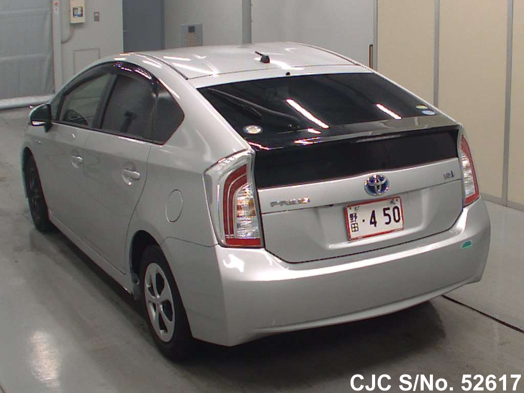 2012 toyota prius hybrid silver for sale stock no 52617 japanese used cars exporter. Black Bedroom Furniture Sets. Home Design Ideas