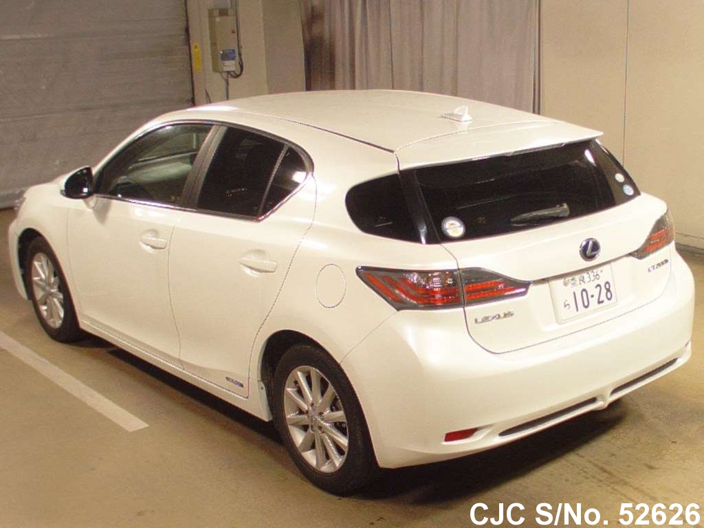 2011 lexus ct200h white for sale stock no 52626 japanese used cars exporter. Black Bedroom Furniture Sets. Home Design Ideas