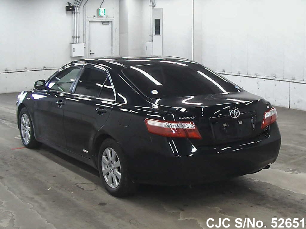 2008 toyota camry black for sale stock no 52651 japanese used cars exporter. Black Bedroom Furniture Sets. Home Design Ideas
