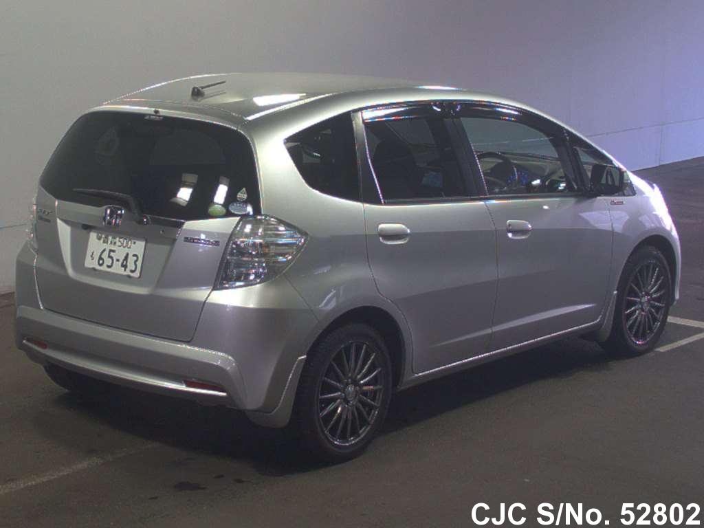 2012 honda fit jazz silver for sale stock no 52802 japanese used cars exporter. Black Bedroom Furniture Sets. Home Design Ideas