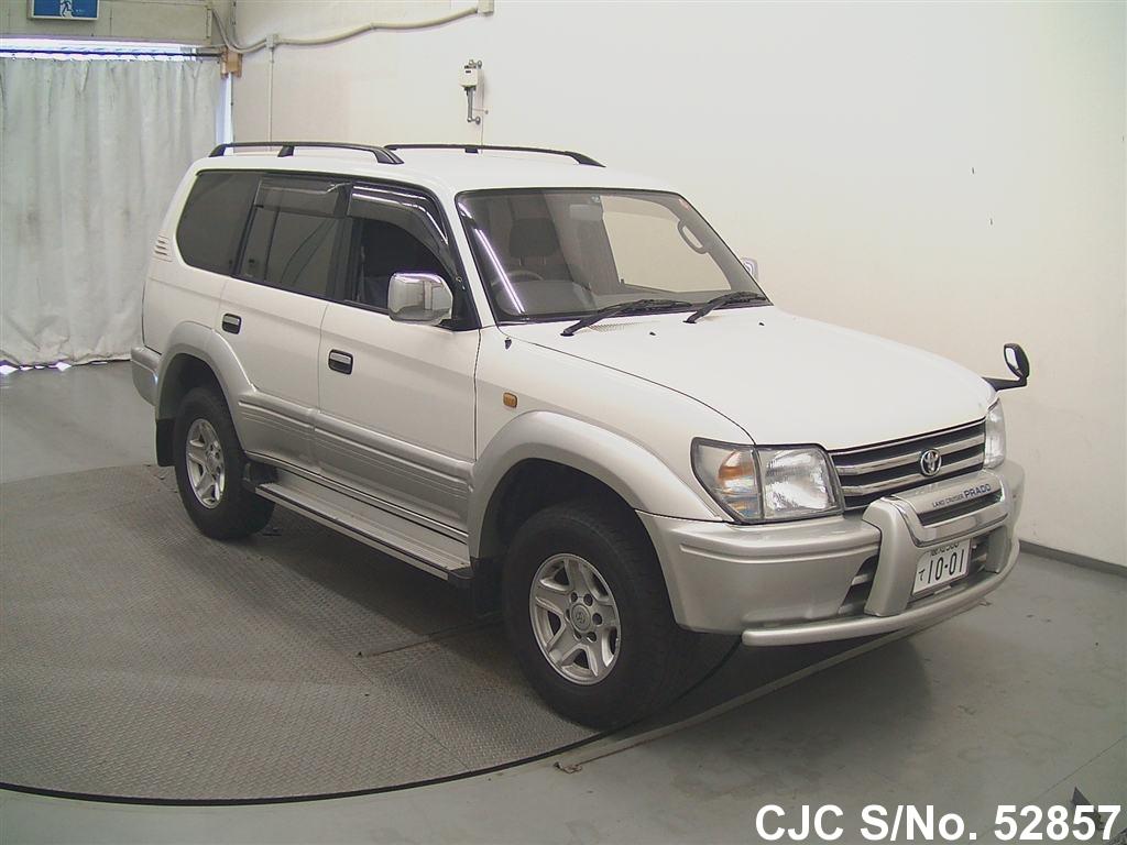 1998 toyota land cruiser prado white for sale stock no 52857 japanese used cars exporter. Black Bedroom Furniture Sets. Home Design Ideas