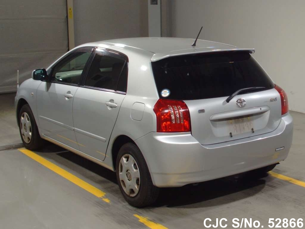 2004 toyota corolla runx silver for sale stock no 52866 japanese used cars exporter. Black Bedroom Furniture Sets. Home Design Ideas