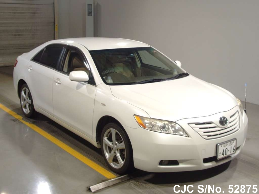 2006 toyota camry white for sale stock no 52875 japanese used cars exporter. Black Bedroom Furniture Sets. Home Design Ideas