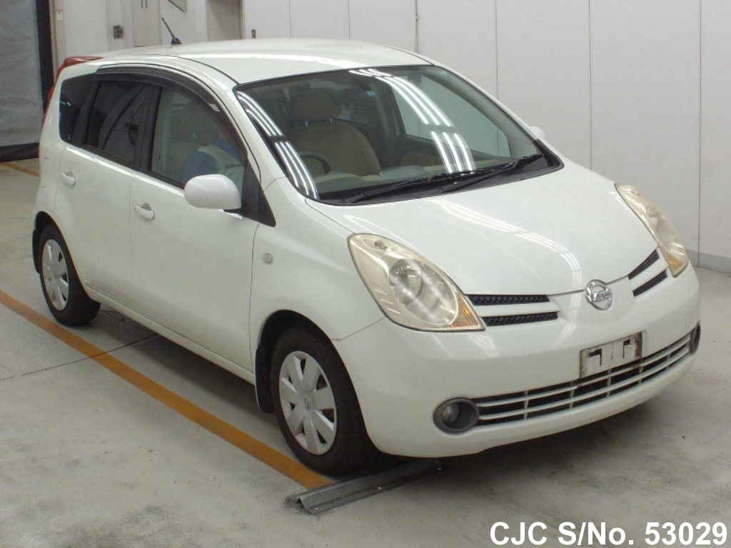2005 nissan note white pearl for sale stock no 53029 japanese used cars exporter. Black Bedroom Furniture Sets. Home Design Ideas