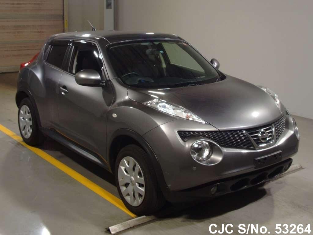 2013 nissan juke gray for sale stock no 53264 japanese used cars exporter. Black Bedroom Furniture Sets. Home Design Ideas