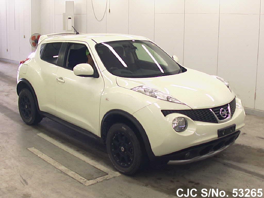 2011 nissan juke white for sale stock no 53265 japanese used cars exporter. Black Bedroom Furniture Sets. Home Design Ideas
