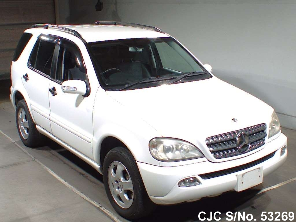 2003 mercedes benz ml class white for sale stock no for Used mercedes benz ml for sale