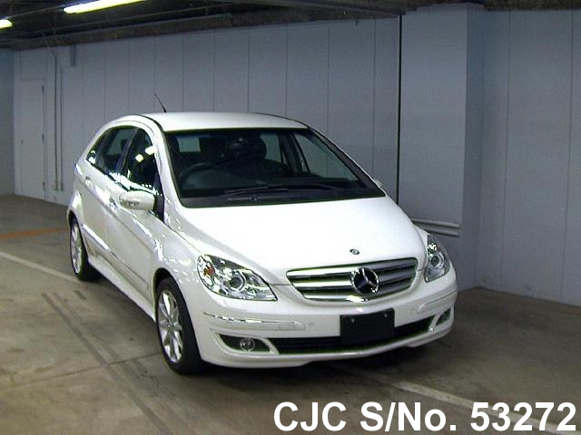 2007 mercedes benz b class white for sale stock no 53272 japanese used cars exporter. Black Bedroom Furniture Sets. Home Design Ideas