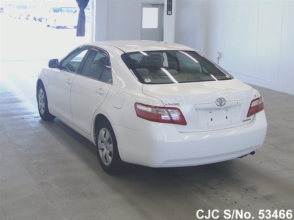2006 toyota camry white for sale stock no 53466 japanese used cars exporter. Black Bedroom Furniture Sets. Home Design Ideas