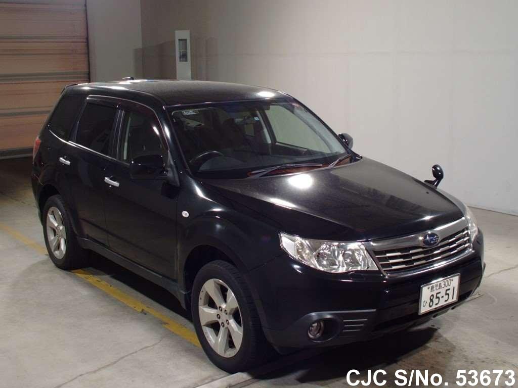 2008 subaru forester black for sale stock no 53673 japanese used cars exporter. Black Bedroom Furniture Sets. Home Design Ideas