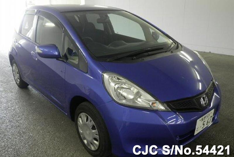 2012 honda fit jazz blue for sale stock no 54421 japanese used cars exporter. Black Bedroom Furniture Sets. Home Design Ideas