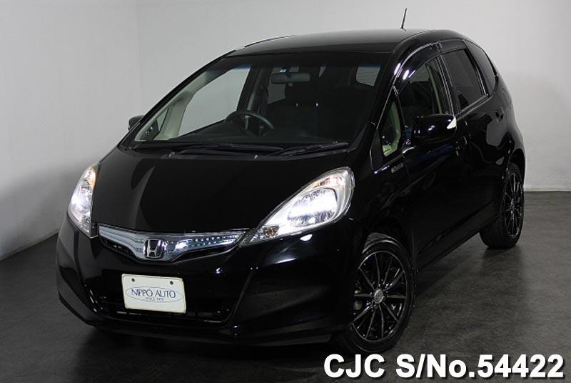 2012 honda fit jazz black for sale stock no 54422 japanese used cars exporter. Black Bedroom Furniture Sets. Home Design Ideas