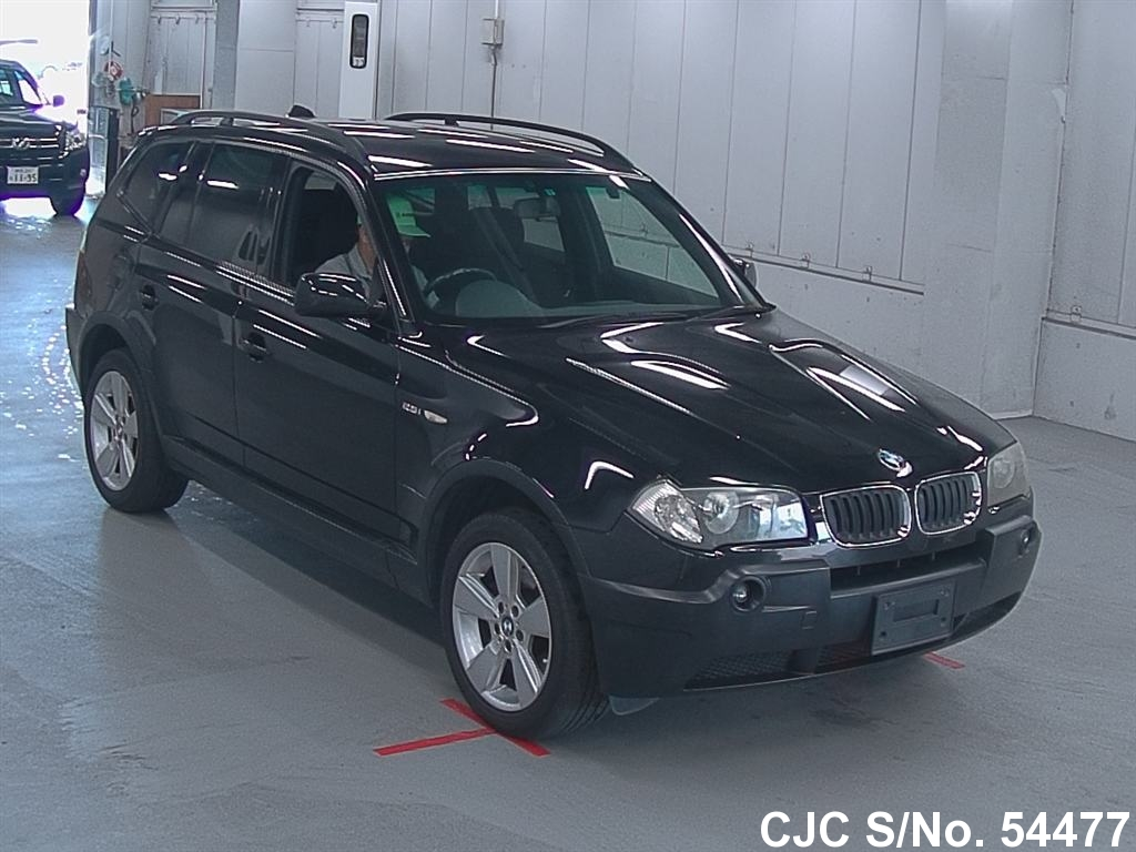 2005 bmw x3 black for sale stock no 54477 japanese used cars exporter. Black Bedroom Furniture Sets. Home Design Ideas